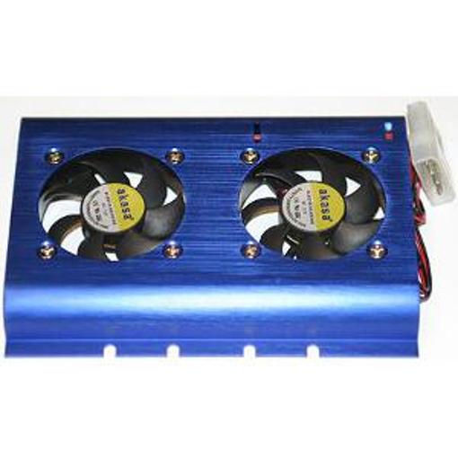 COOLER AKASA HDD 2 fans direct fit blue