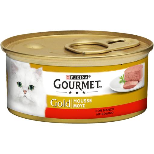 GOURMET GOLD ΓΑΤΟΤΡΟΦΗ 85gr - (MANZO)