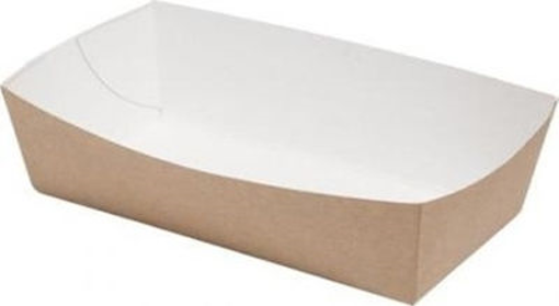 KRAFT ΣΚΑΦΑΚΙ ΦΑΓΗΤΟΥ 13oz (100τεμ.) - (10x14x3.5cm)