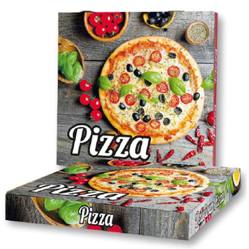 PIZZA (MICROWELLE) - (33x33x4cm) - 100τεμ. - (COLOR)