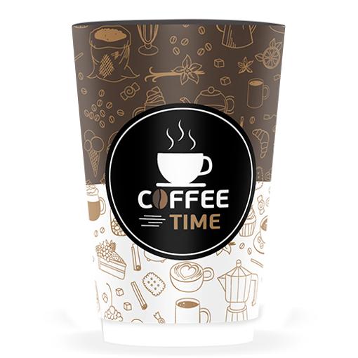 ΠΟΤΗΡΙ ΧΑΡΤΙΝΟ COFFEE TIME (DOUBLE WALL)-(16οz) - (25τεμ.)
