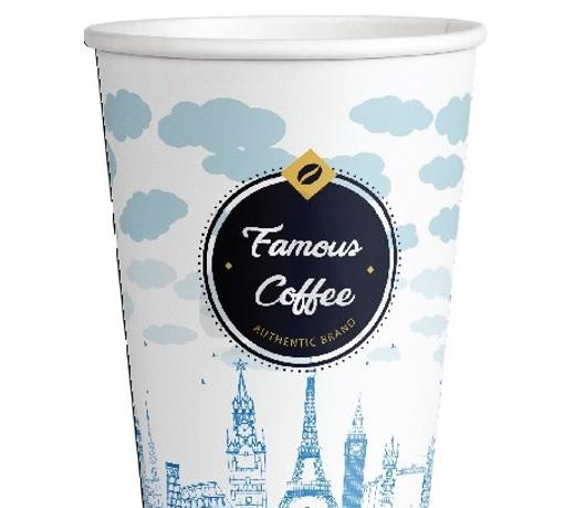 ΠΟΤΗΡΙ ΧΑΡΤΙΝΟ FAMOUS COFFEE (ΣΤΕΝΟ) 12οz - (50τεμ.)