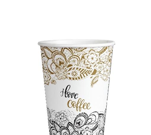 ΠΟΤΗΡΙ ΧΑΡΤΙΝΟ I LOVE COFFEE (GOLD) (4οz) - (100τεμ.)