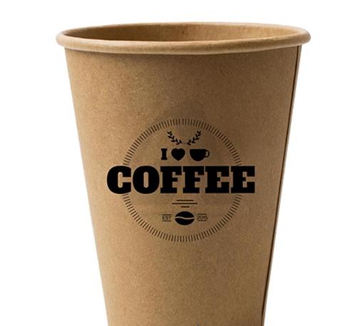 ΠΟΤΗΡΙ ΧΑΡΤΙΝΟ KRAFT BLACK COFFEE (12οz-14oz) - (50τεμ.)