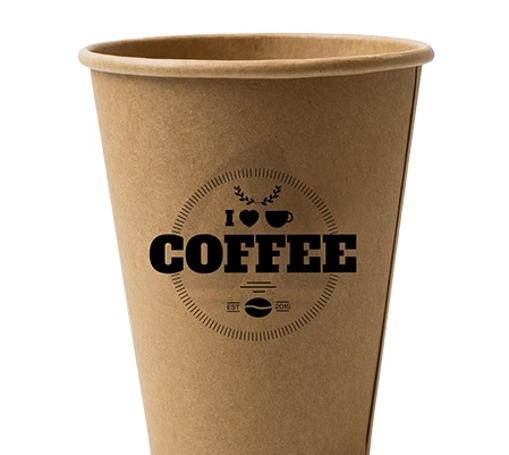 ΠΟΤΗΡΙ ΧΑΡΤΙΝΟ KRAFT BLACK COFFEE (16οz) - (50τεμ.)