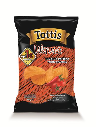 TOTTIS WAVES TOMATA ΠΑΠΡΙΚΑ (1Ε) 110g