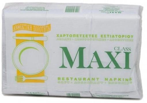 MAXI ΧΑΡΤΟΠΕΤΣΕΤΑ ΠΟΛΥΤΕΛΕΙΑΣ ΛΕΥΚΗ 1Φ 23x24cm - 750τεμ.